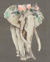 Flower Crown Elephant I Fine-Art Print