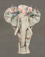 Flower Crown Elephant II Fine-Art Print