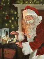 Saint Nick and the Nativity Fine-Art Print
