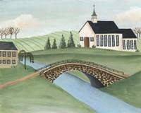 Folk Church Scene I Fine-Art Print