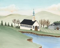 Folk Church Scene IV Fine-Art Print