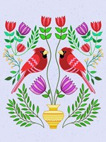Folk Bird I Fine-Art Print