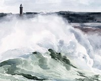 Lighthouse Waves I Fine-Art Print