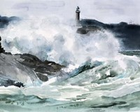 Lighthouse Waves II Fine-Art Print