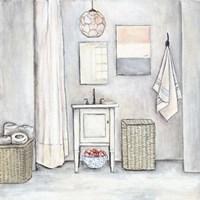 Neutral Bath I Fine-Art Print