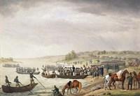 Italian Corps of Eugene de Beauharnais Crossing the Niemen on 30 June 1812, (1815) Fine-Art Print