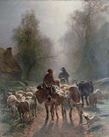 On the Way to the Market, 1859 Fine-Art Print