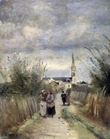 Bell Tower in Argenteuil (Road to the Church), 1870s Fine-Art Print