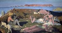 The Green Beach, Perros Guirec, 1909 Fine-Art Print