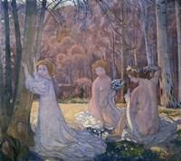 Figures in Spring Landscape (Sacred Grove), 1897 Fine-Art Print