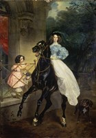 Horsewoman, Portrait of Giovanina and Amazillia Pacini, 1832 Fine-Art Print