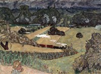 Landscape with Freight Train, 1909 Fine-Art Print