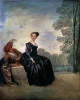 A Capricious Woman (La Boudeuse), 1718 Fine-Art Print