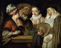 Actors of the Comedie Francaise, 1711-1712 Fine-Art Print
