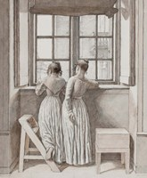 At a Window in the Artist's Studio, 1852 Fine-Art Print