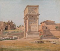 The Arch of Titus in Rome, 1839 Fine-Art Print