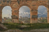 View through Three Arches of the Third Storey of the Colosseum, 1815 Fine-Art Print