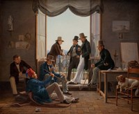 A Group of Danish Artists in Rome, 1837 Fine-Art Print