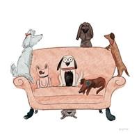 Playful Pets Dogs I Fine-Art Print