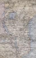 Old Map Africa Fine-Art Print