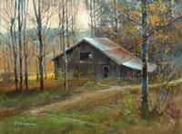 Pinnacle Mountain Barn Fine-Art Print