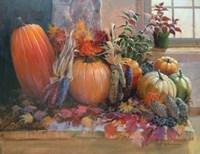 Pumpkins on the Hearth Fine-Art Print