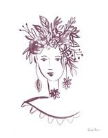 Flower Girl I Plum Fine-Art Print