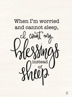 Count Your Blessings Instead of Sheep Fine-Art Print
