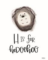 H is for Hedgehog Fine-Art Print
