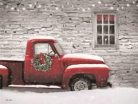 Snowy Christmas Truck Fine-Art Print