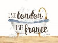 I See London Bathtub Fine-Art Print