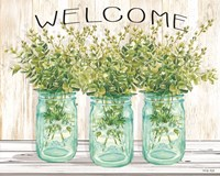 Welcome Glass Jars Fine-Art Print
