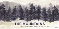 Navy Trees The Mountains Fine-Art Print