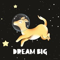 Dream Big Astronaut Dog Fine-Art Print
