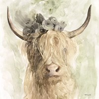 Cow and Crown I Fine-Art Print