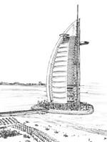 Dubai in Black & White I Fine-Art Print