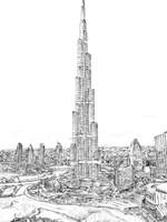 Dubai in Black & White II Fine-Art Print
