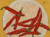 Peppers on a Plate III Fine-Art Print