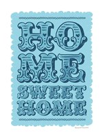 Home Sweet Home Blue Fine-Art Print