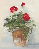 Potted Geraniums II Light Fine-Art Print