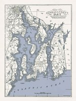 Narragansett Bay Map II Fine-Art Print