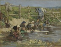 Laundresses by a Stream, ca. 1886-1890 Fine-Art Print