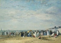 The Beach at Trouville Fine-Art Print