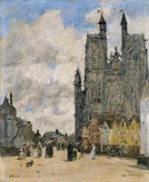 The Square of the Church of Saint Vulfran in Abbeville Fine-Art Print