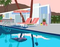 Pool Lounge I Fine-Art Print