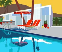 Pool Lounge II Fine-Art Print