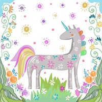 Unicorn Forest II Fine-Art Print