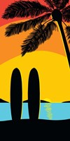 Sunset Surf Panel Fine-Art Print