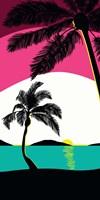 Pink Sunset Surf Panel Fine-Art Print