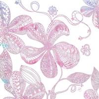 Floral Embossed I Fine-Art Print